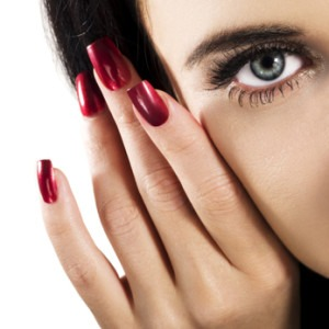 Details of beauty. Woman eye with beautiful makeup.