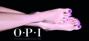 Webpagina voeten paars